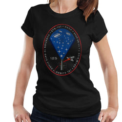 NASA STS 125 Atlantis Mission Badge Distressed Women's T-Shirt - POD66