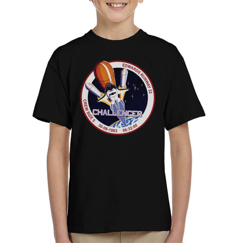 NASA STS 8 Challenger Mission Badge Kid's T-Shirt - POD66