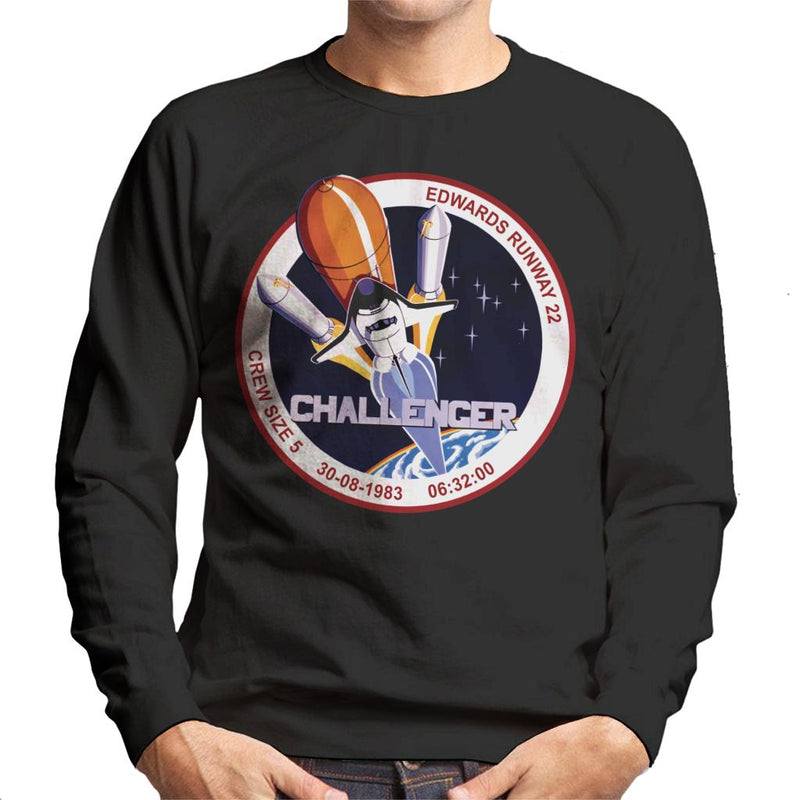 NASA STS 8 Challenger Mission Badge Men's Sweatshirt - POD66