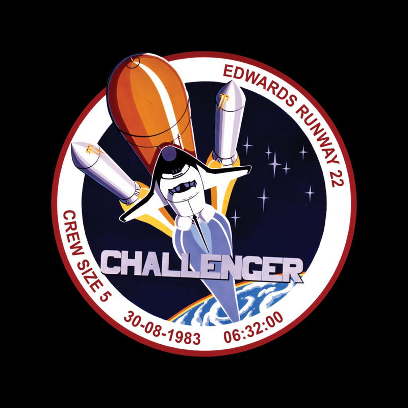 NASA STS 8 Challenger Mission Badge Kid's Hooded Sweatshirt - POD66