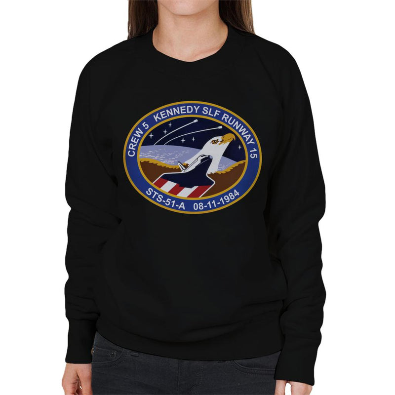 NASA STS 51 A Discovery Mission Badge Women's Sweatshirt - POD66