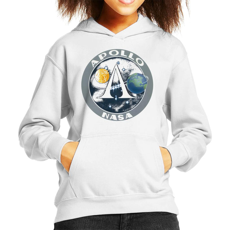NASA Apollo Program Logo Badge Kid's Hooded Sweatshirt - POD66