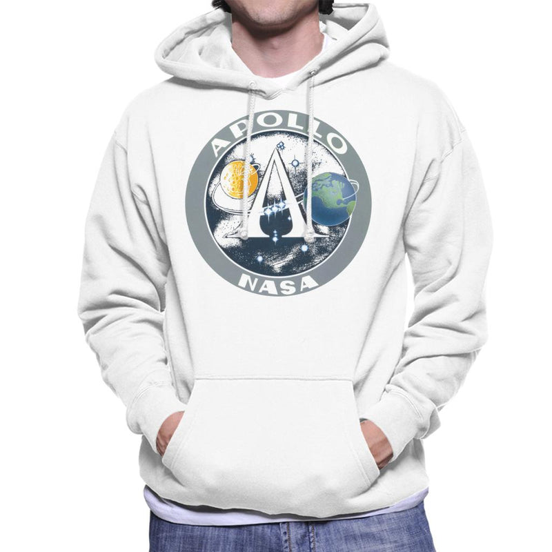 NASA Apollo Program Logo Badge Men's Hooded Sweatshirt - POD66