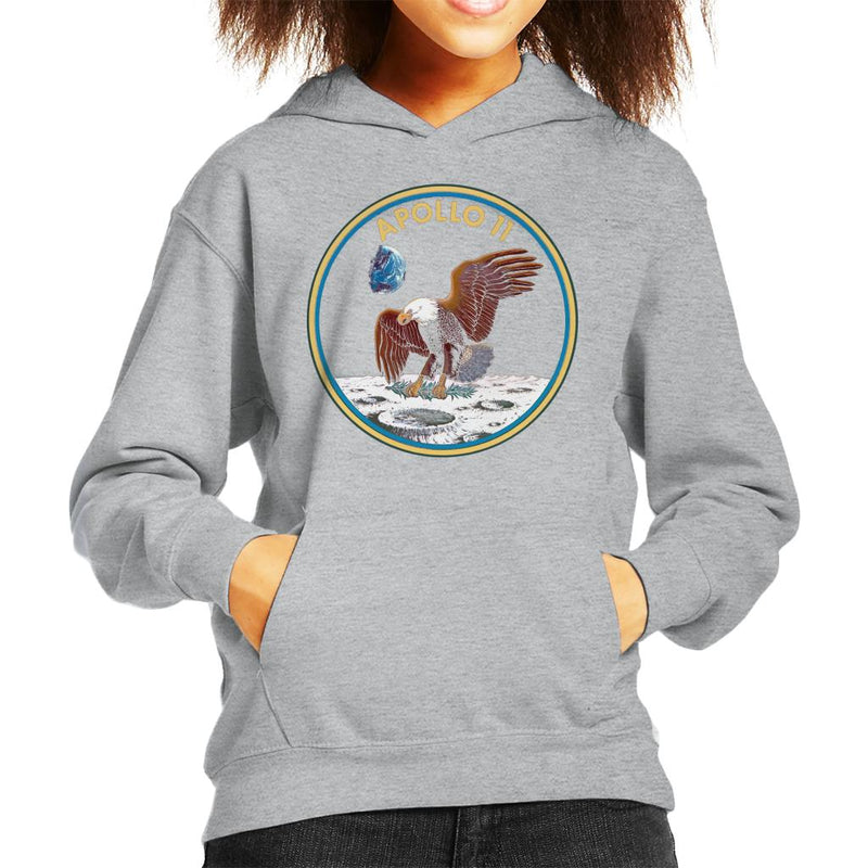 NASA Apollo 11 Mission Badge Kid's Hooded Sweatshirt - POD66