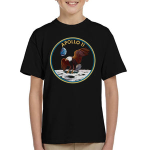 NASA Apollo 11 Mission Badge Kid's T-Shirt - POD66