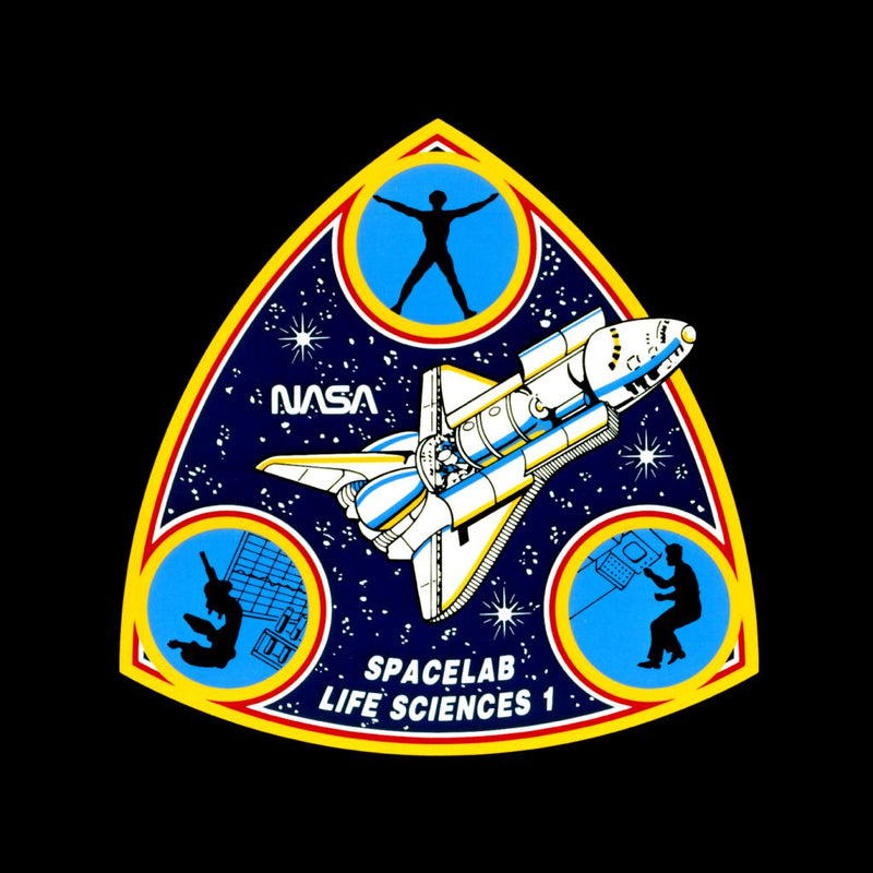 NASA Spacelab Life Sciences 1 Mission Badge Kid's T-Shirt - POD66