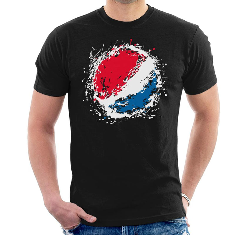 Pepsi Paint Splash Logo Men's T-Shirt - POD66