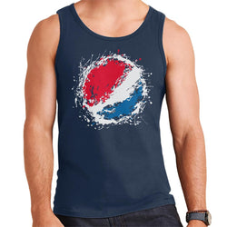 Pepsi Paint Splash Logo Men's Vest - POD66