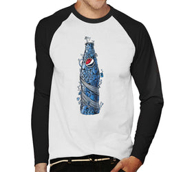 Pepsi Doodle Bottle Men's Baseball Long Sleeved T-Shirt