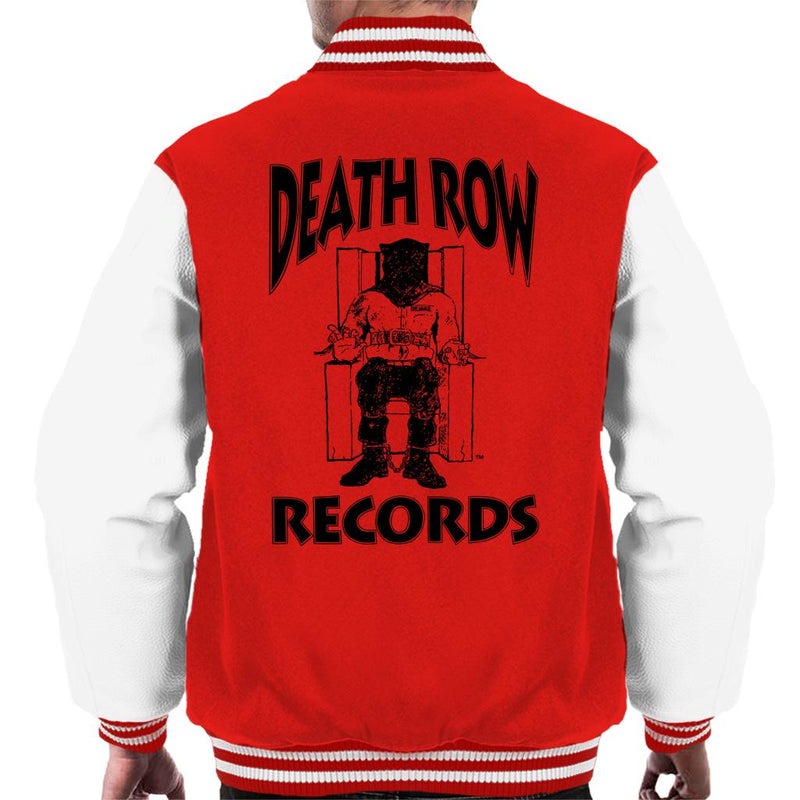 Death Row Records Chair Logo Black Men's Varsity Jacket - POD66