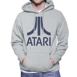 Atari Navy Logo Men's Hooded Sweatshirt - POD66