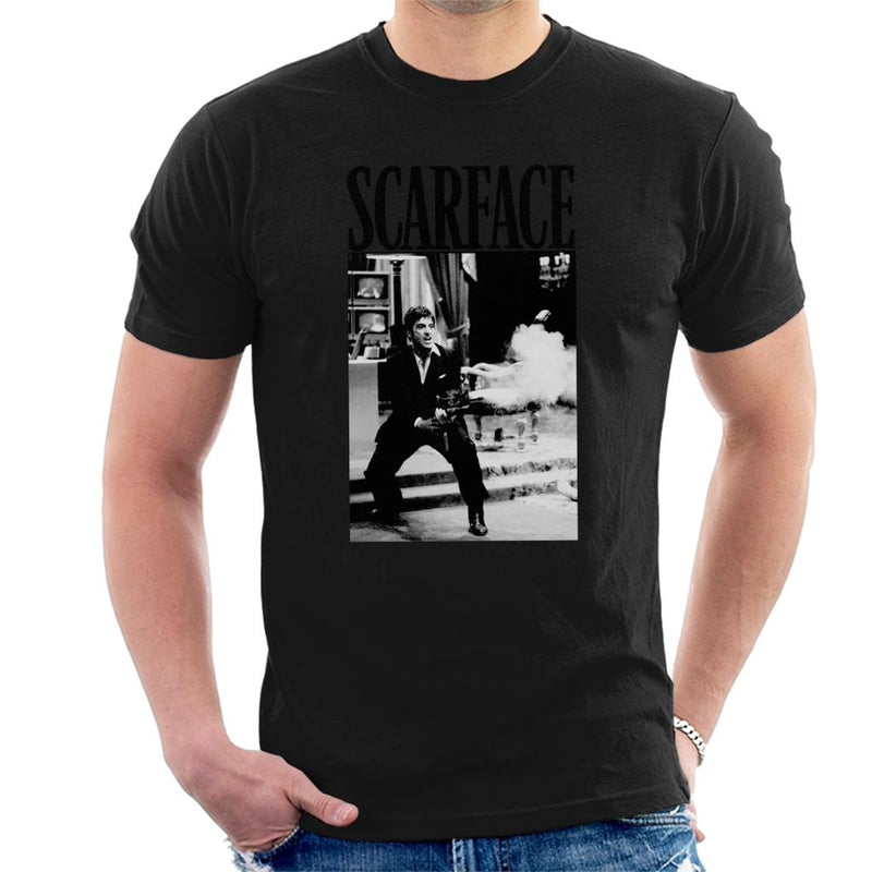 Scarface Machine Gun Scene Men's T-Shirt - POD66