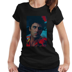 Scarface Pacino Portrait Women's T-Shirt - POD66