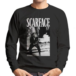 Scarface Pacino Machine Gun Scene Men's Sweatshirt - POD66