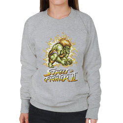 Street Fighter II Pixel Blanka Women's Sweatshirt - POD66