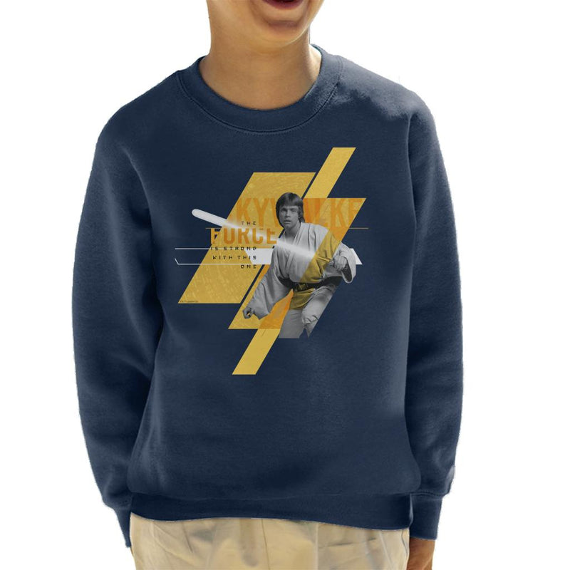 Star Wars Luke Skywalker The Force Is Strong Kid's Sweatshirt - POD66