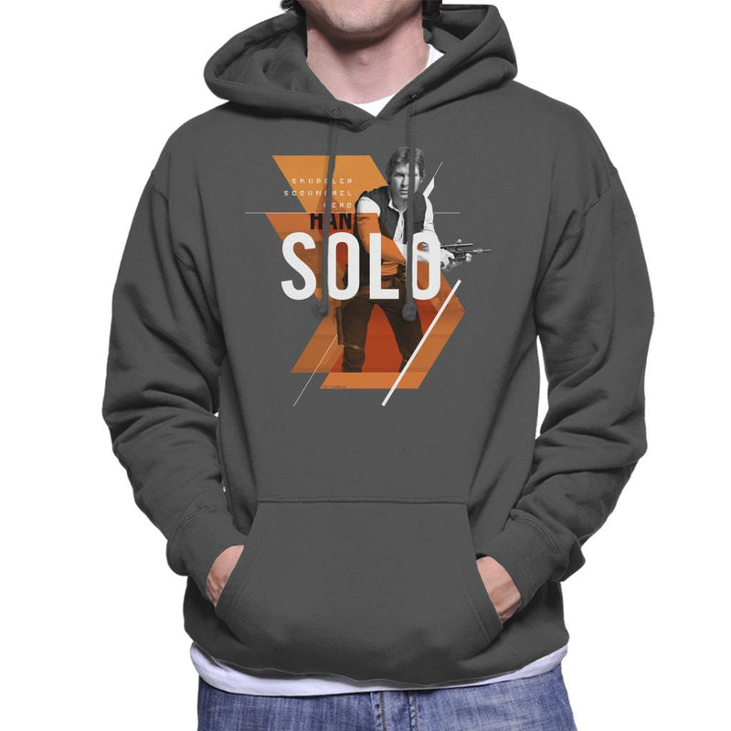 Star Wars Han Solo Smuggler Scoundrel Hero Men's Hooded Sweatshirt - POD66
