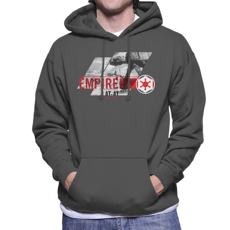 Star Wars Empire ATAT Crush The Rebellion Men's Hooded Sweatshirt - POD66