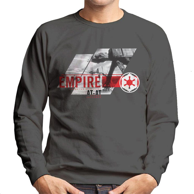 Star Wars Empire ATAT Crush The Rebellion Men's Sweatshirt - POD66