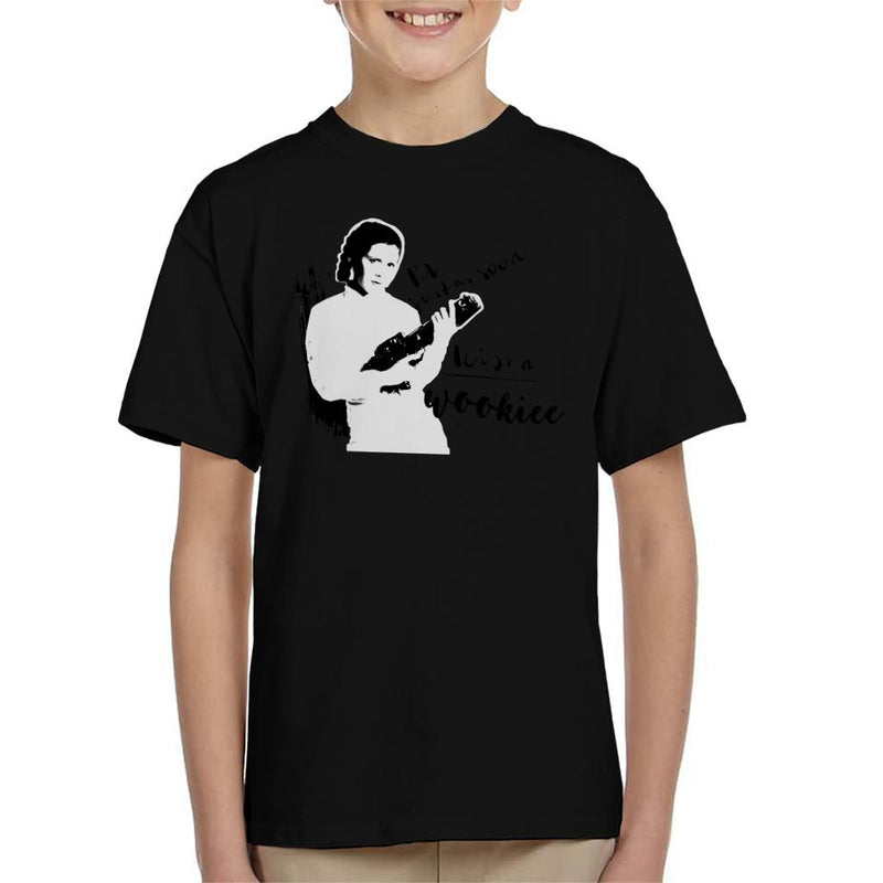 Star Wars Princess Leia Just As Soon Kiss A Wookiee Kid's T-Shirt - POD66