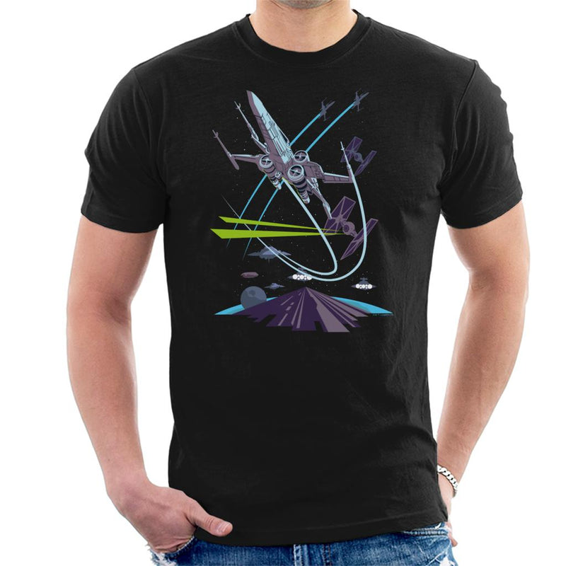 Star Wars X Wing TIE Fighter Chase Men's T-Shirt - POD66