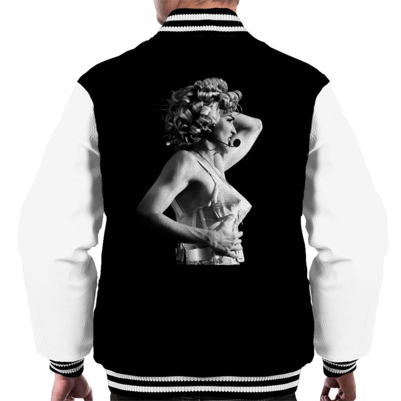 Madonna Black And White Cone Bra Corset Blonde Ambition Tour 1990 Men's Varsity Jacket