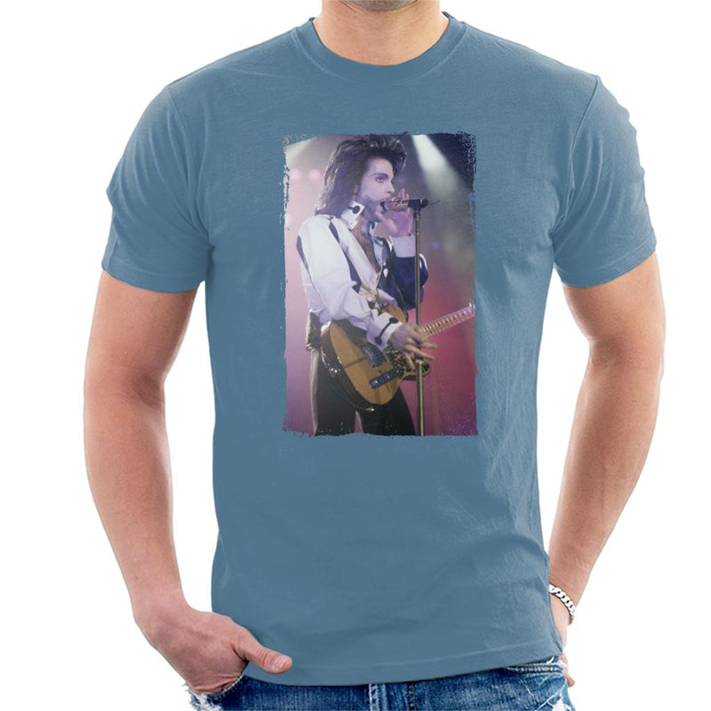 Prince Nude Tour 1991 Performing With Guitar Men's T-Shirt