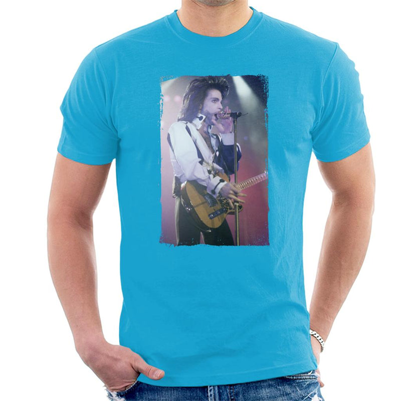 Prince Nude Tour 1991 Performing With Guitar Men's T-Shirt - POD66