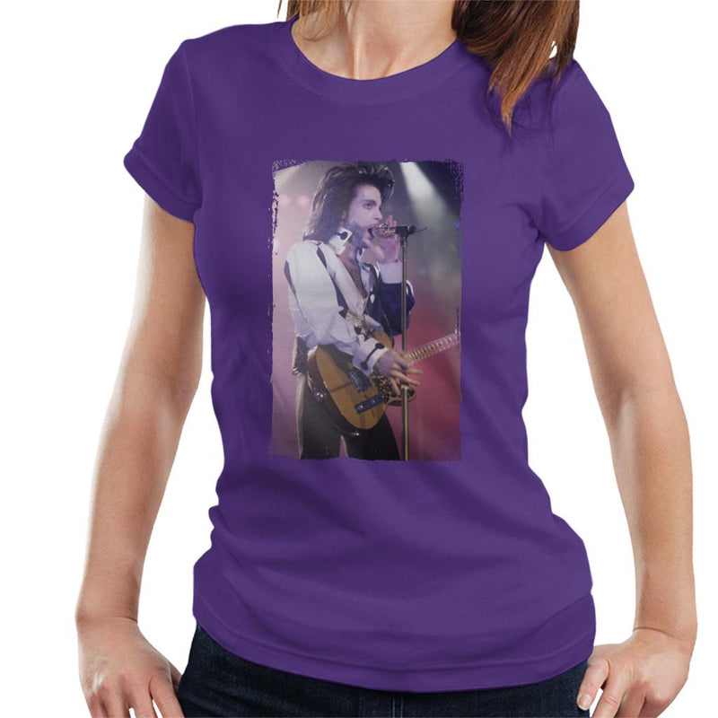 Prince Nude Tour 1991 Performing With Guitar Women's T-Shirt - POD66