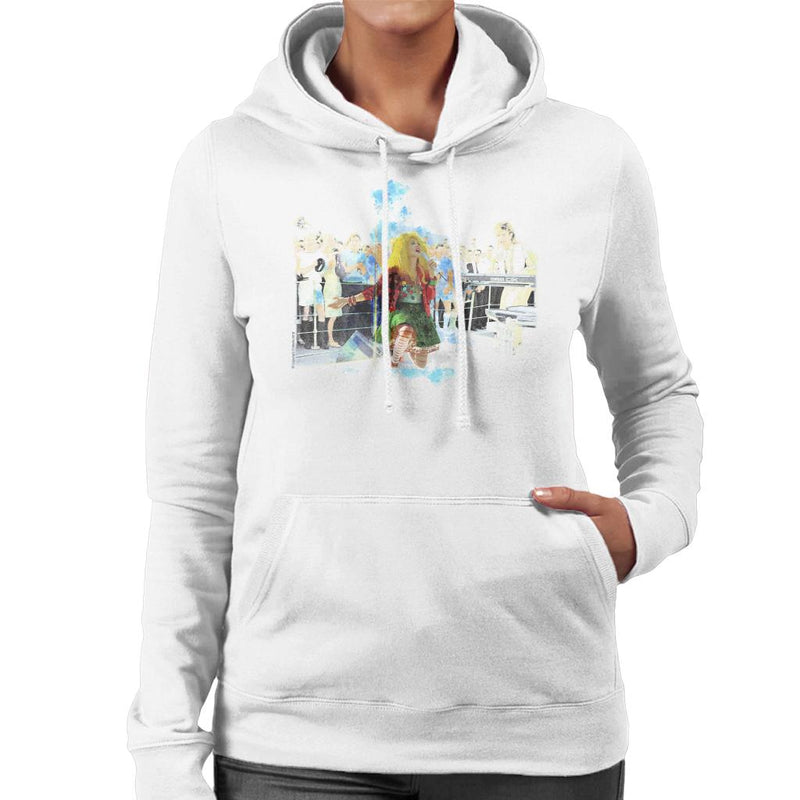TV Times Cyndi Lauper HMS Ark Royal Navy Ship 1986 Women's Hooded Sweatshirt