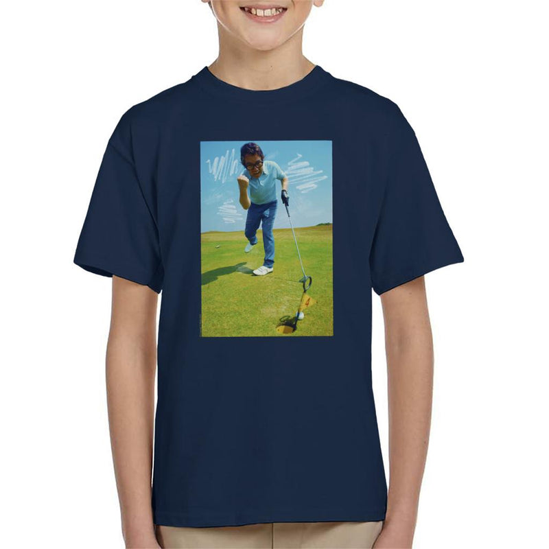 TV Times Ronnie Corbett Playing Golf 1971 Kid's T-Shirt - POD66