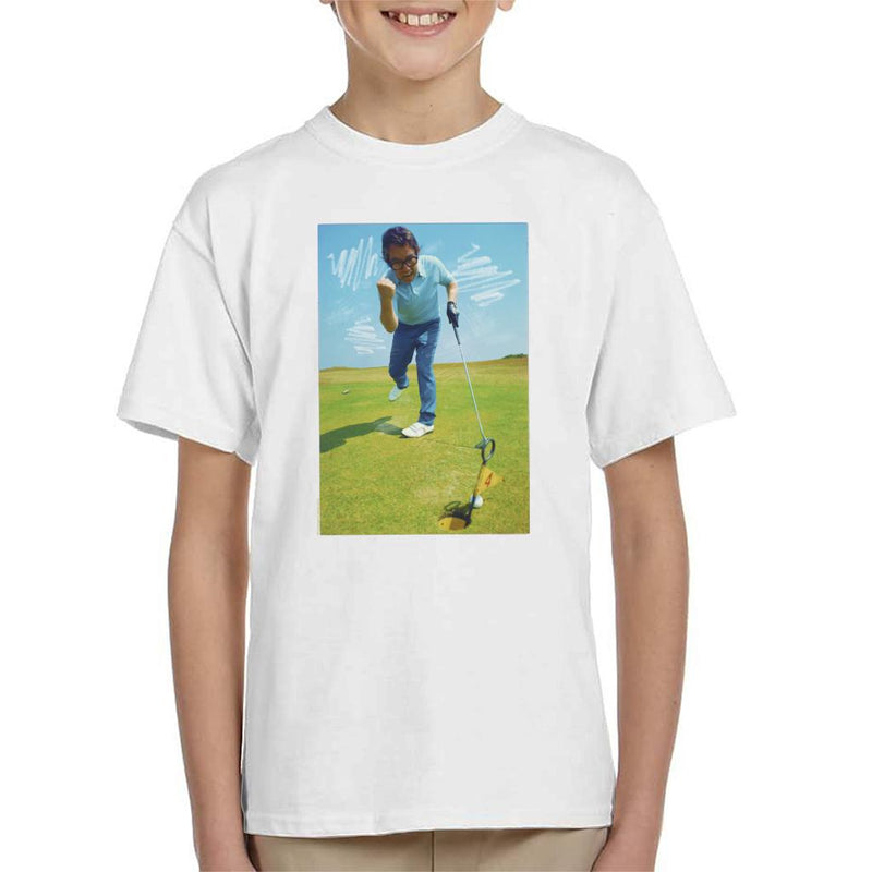 TV Times Ronnie Corbett Playing Golf 1971 Kid's T-Shirt
