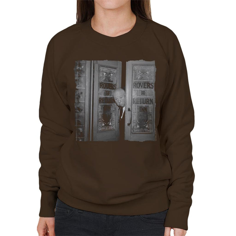 TV Times Alfred Hitchcock At The Rovers Return 1964 Women's Sweatshirt