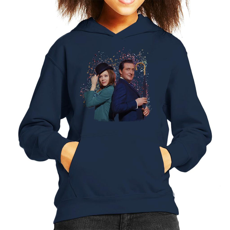 TV Times Avengers Diana Rigg And Patrick Macnee Kid's Hooded Sweatshirt - POD66
