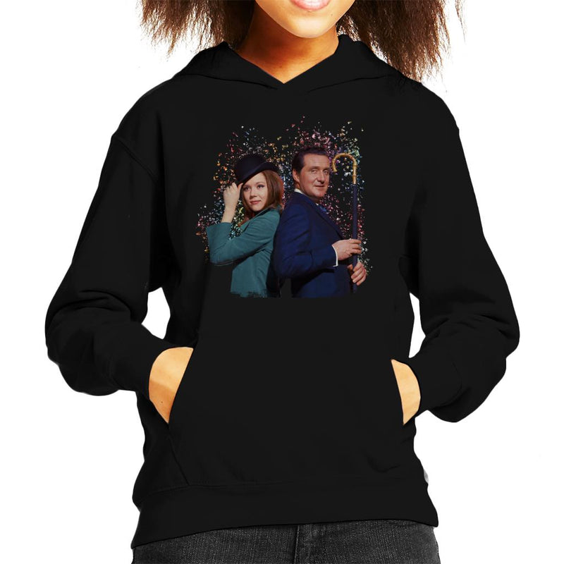 TV Times Avengers Diana Rigg And Patrick Macnee Kid's Hooded Sweatshirt