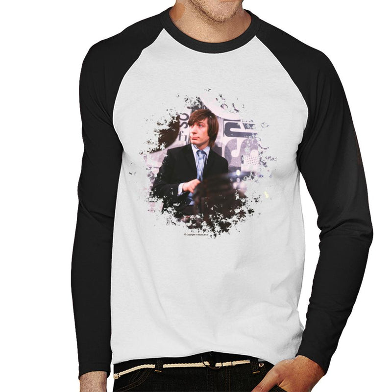 TV Times Charlie Watts Live Rolling Stones Men's Baseball Long Sleeved T-Shirt