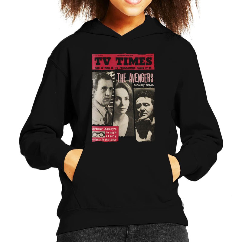 TV Times The Avengers 1961 Cover Kid's Hooded Sweatshirt - POD66
