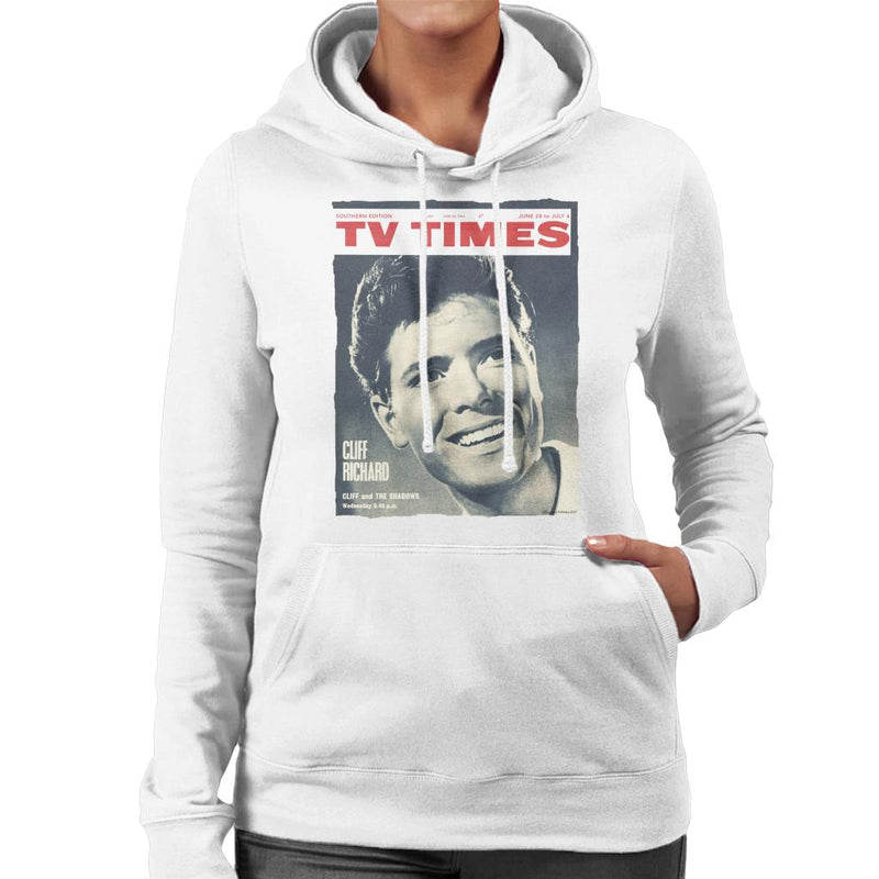 TV Times Cliff Richard 1964 Cover Women's Hooded Sweatshirt - POD66