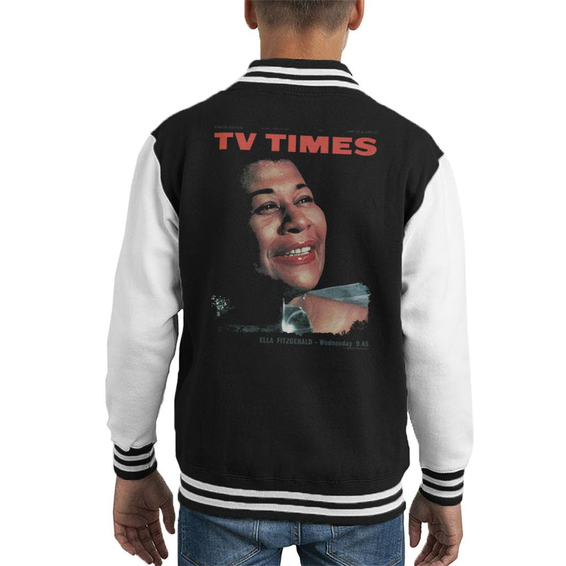 TV Times Ella Fitzgerald 1964 Cover Kid's Varsity Jacket - POD66