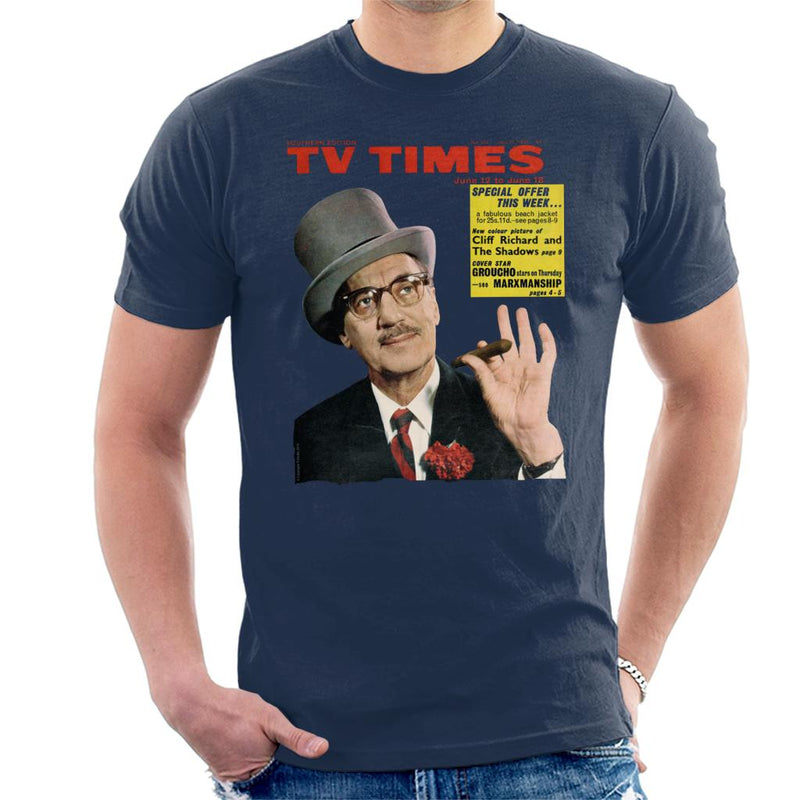 TV Times Groucho Marx 1965 Cover Men's T-Shirt - POD66
