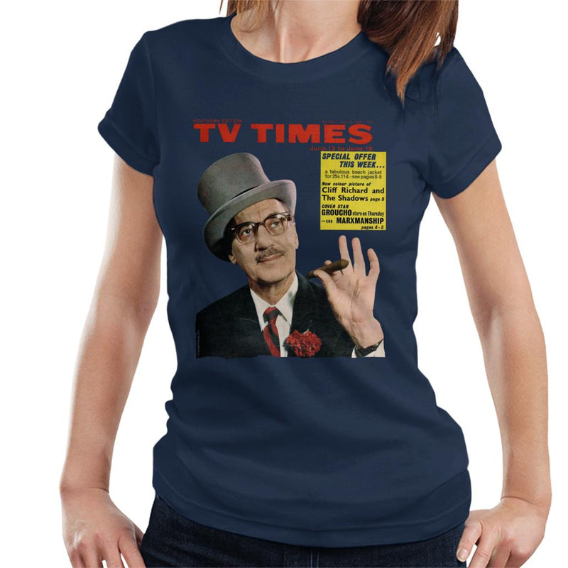 TV Times Groucho Marx 1965 Cover Women's T-Shirt - POD66