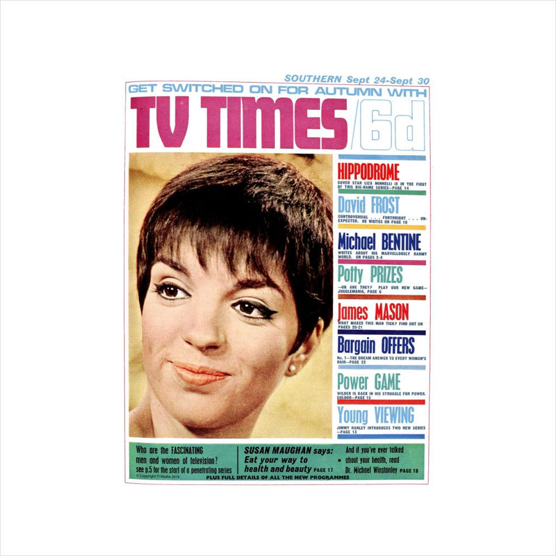 TV Times Liza Minnelli 1966 Cover Men's Baseball Long Sleeved T-Shirt - POD66