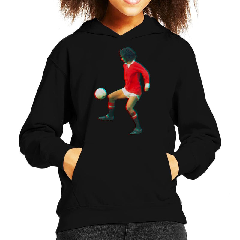 TV Times George Best Playing With Manchester United Kid's Hooded Sweatshirt - POD66
