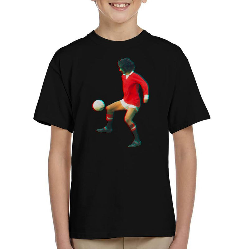 TV Times George Best Playing With Manchester United Kid's T-Shirt - POD66