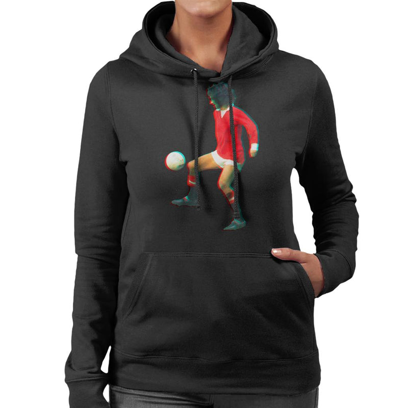TV Times George Best Playing With Manchester United Women's Hooded Sweatshirt - POD66