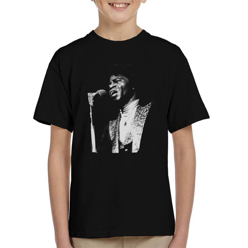 TV Times Soul Singer James Brown 1979 Kid's T-Shirt - POD66