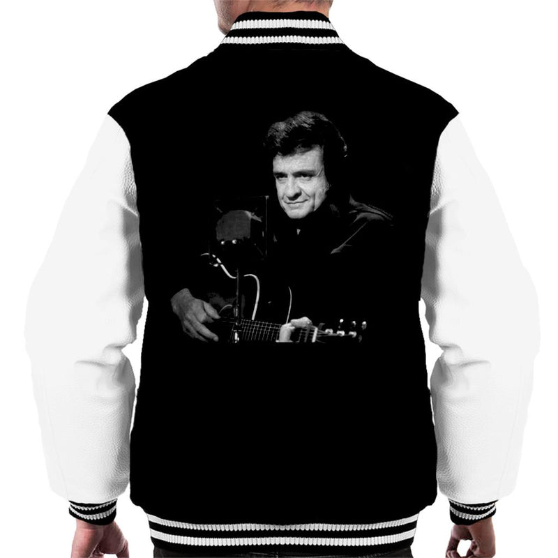 TV Times Singer Johnny Cash Muppets Show 1981 Men's Varsity Jacket - POD66