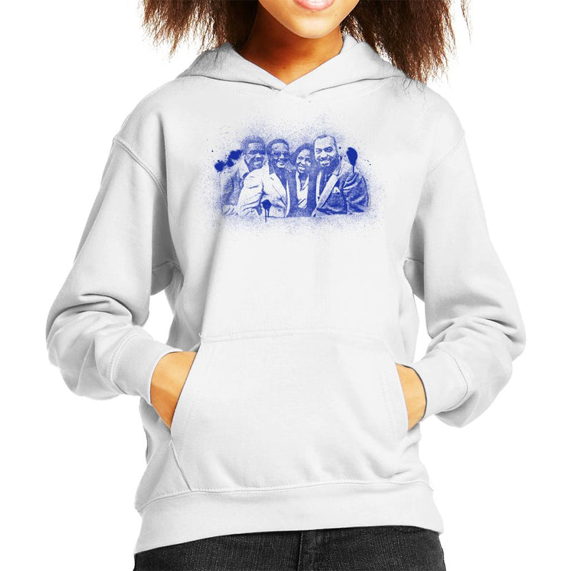 TV Times Gladys Knight And The Pips 1980 Paint Splatter Kid's Hooded Sweatshirt - POD66