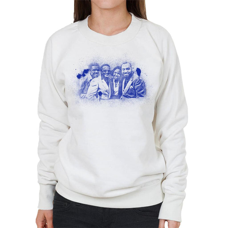 TV Times Gladys Knight And The Pips 1980 Paint Splatter Women's Sweatshirt - POD66