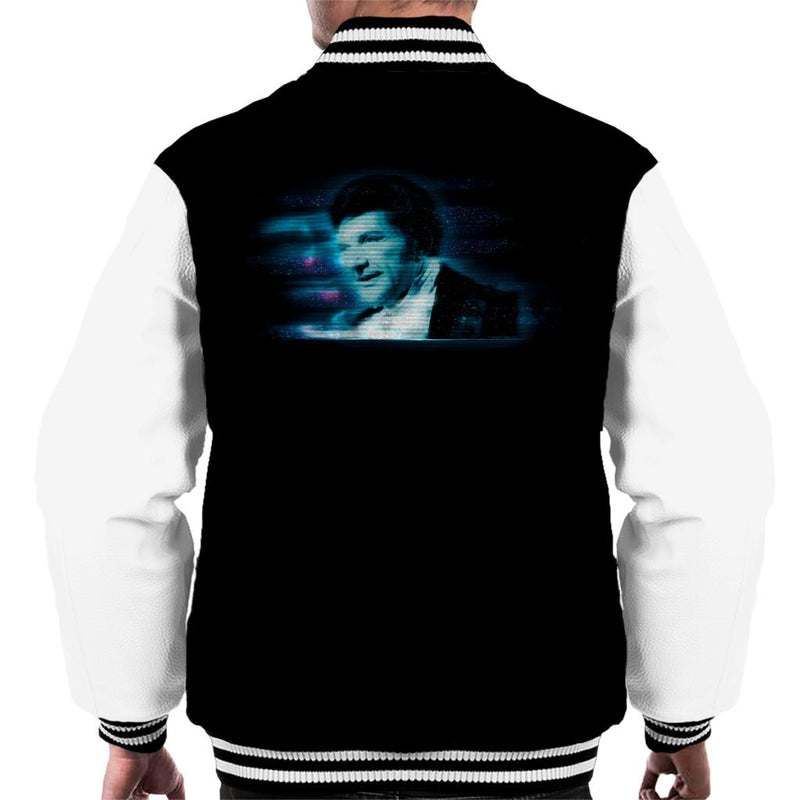 TV Times Pianist Liberace Blue Static Men's Varsity Jacket - POD66